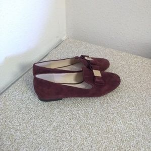 Cole Haan Tali Burgundy Suede Loafers